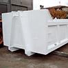 Cassone per rifiuti edili sabbiato e riverniciato di bianco
